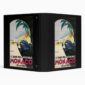 Monaco 5th Grand Prix Automobile 1933 3 Ring Binder
