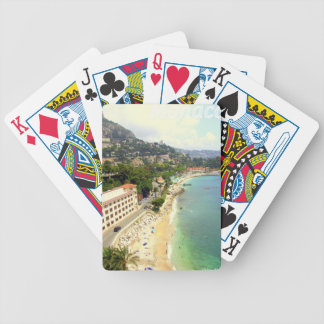 Monaco Beach Bicycle Playing Cards