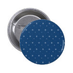 Monaco Blue And Bright Stars - Elegant Pattern 2 Inch Round Button