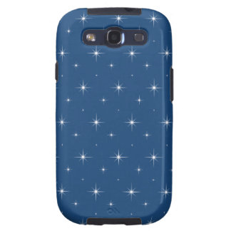 Monaco Blue And Bright Stars - Elegant Pattern Samsung Galaxy SIII Covers