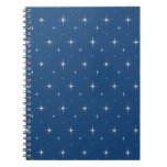 Monaco Blue And Bright Stars - Elegant Pattern Spiral Note Book