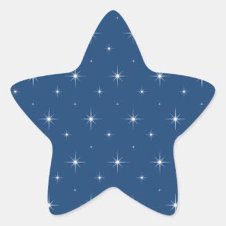 Monaco Blue And Bright Stars - Elegant Pattern Star Sticker