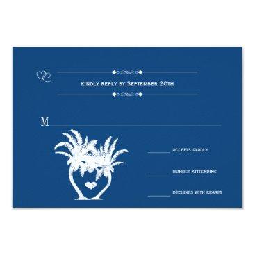 Beach Themed Monaco Blue Beach Palm Tree Destination Chalkboard Card