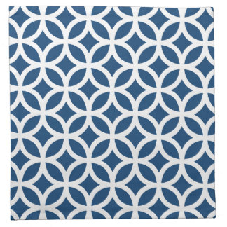 Monaco Blue Geometric Napkin