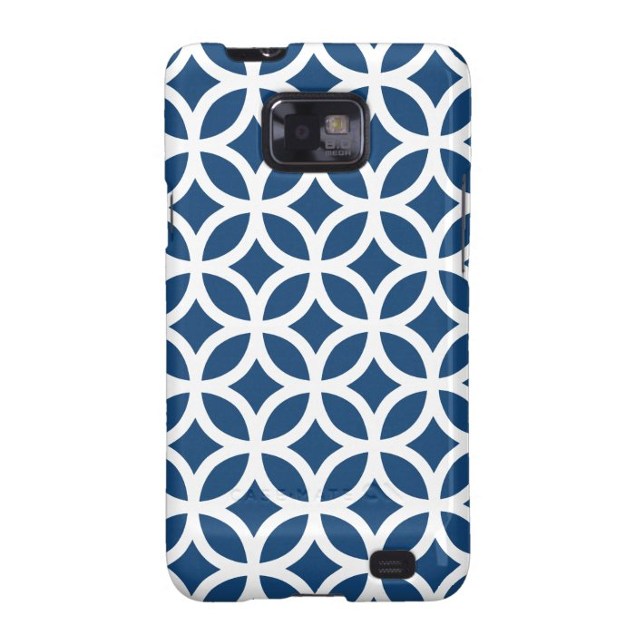 Monaco Blue Geometric Samsung Galaxy SII Cover