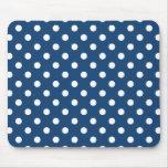 Monaco Blue Polka Dot Pattern Mouse Pad