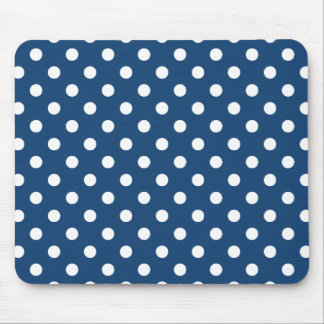 Monaco Blue Polka Dot Pattern Mouse Pad