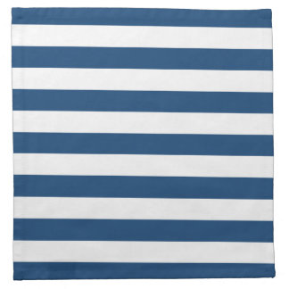 Monaco Blue Stripes Pattern Napkin