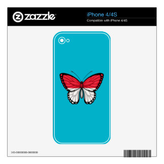 Monaco Butterfly Flag Decals For iPhone 4
