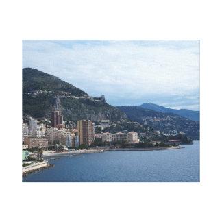 Monaco Coastline Canvas Print