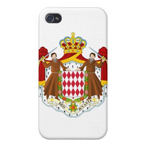 Monaco Coat Of Arms iPhone 4 Cases