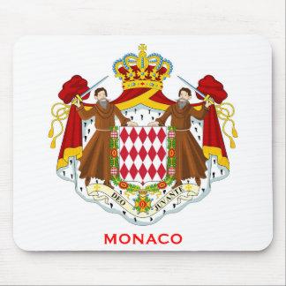 Monaco Coat of Arms Mousepad