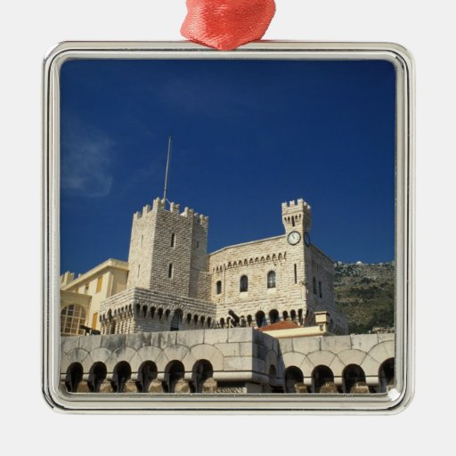 Monaco, Cote d'Azur, Prince's Palace. Square Metal Christmas Ornament