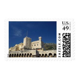 Monaco, Cote d'Azur, Prince's Palace. Postage Stamp