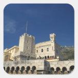 Monaco, Cote d'Azur, Prince's Palace. Square Sticker
