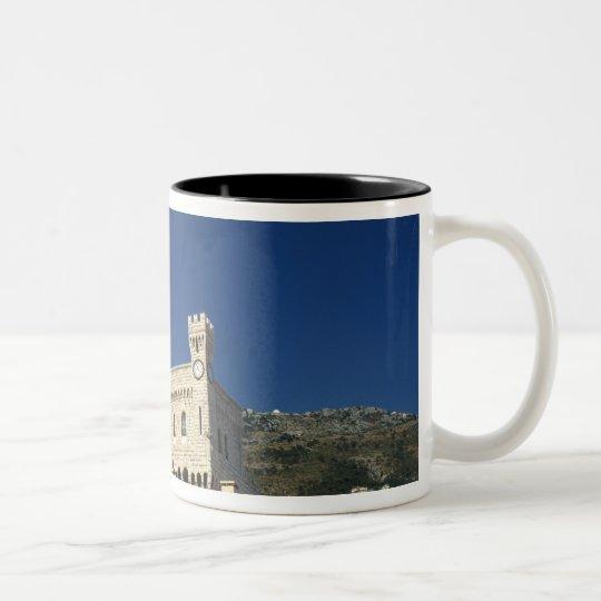 Monaco, Cote d'Azur, Prince's Palace. Two-Tone Coffee Mug