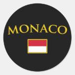 Mónaco de oro etiqueta redonda