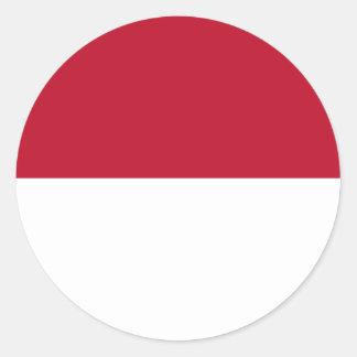 Monaco_flag Classic Round Sticker