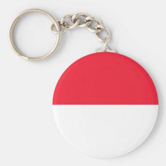 Monaco Flag Keychain