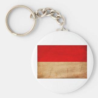 Monaco Flag Basic Round Button Keychain
