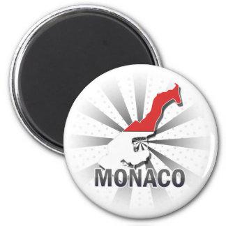 Monaco Flag Map 2.0 2 Inch Round Magnet