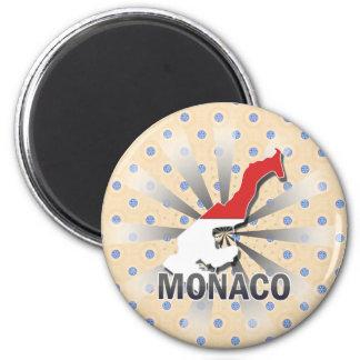 Monaco Flag Map 2.0 Magnets
