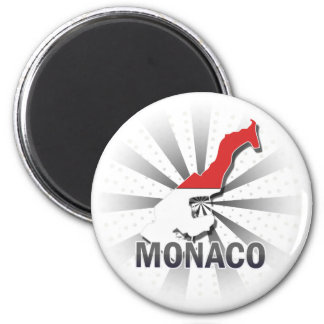 Monaco Flag Map 2.0 Fridge Magnets