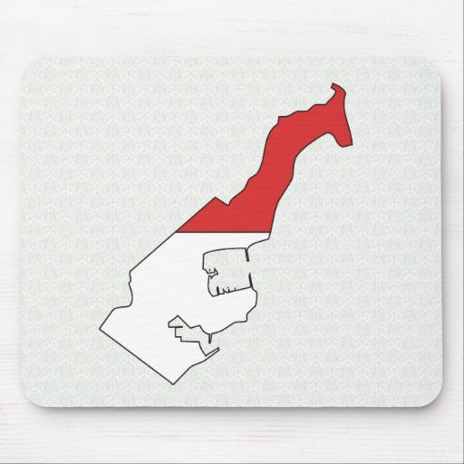Monaco Flag Map full size Mouse Pads