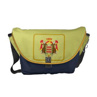 Monaco flag messenger bag