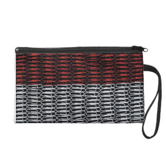 Monaco Flag of Paperclips Wristlet
