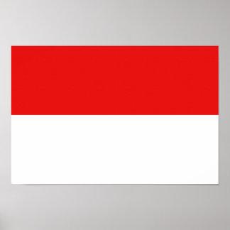 Monaco Flag Poster