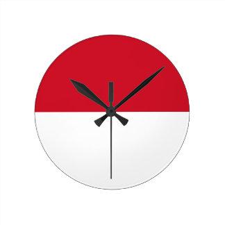 Monaco Flag Round Clock