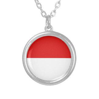 Monaco Flag Round Pendant Necklace