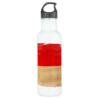 Monaco Flag Stainless Steel Water Bottle