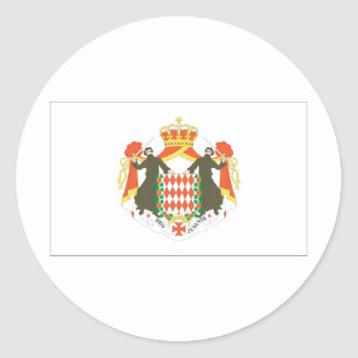 Monaco Flag Round Stickers