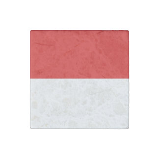 Monaco Flag Stone Magnet