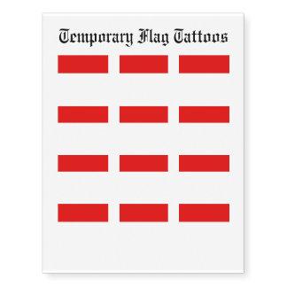 Monaco Flag Temporary Tattoos