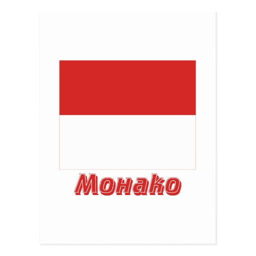 Monaco Flag with name in Russian Post Cards