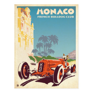 Monaco French Bulldog Club Postcard