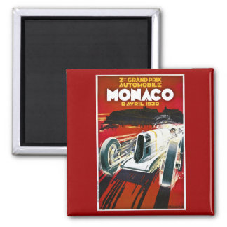 Monaco Grand Prix 1930 2 Inch Square Magnet
