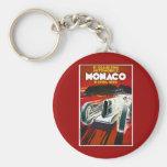 Mónaco Grand Prix 1930 Llavero Redondo Tipo Pin