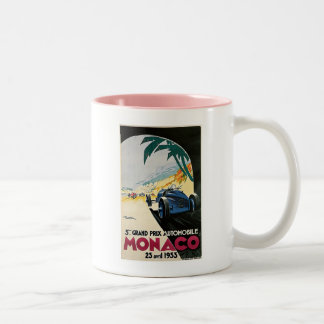 Monaco Grand Prix Automobile Two-Tone Coffee Mug