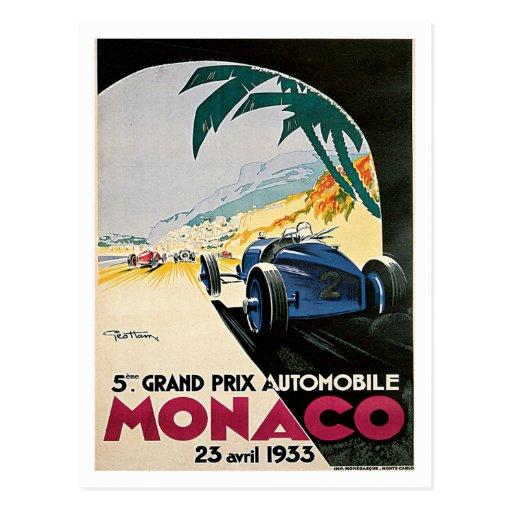 Monaco Grand Prix Automobile Postcard