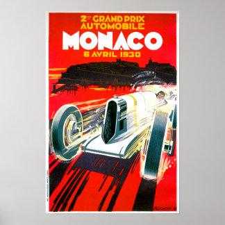Monaco Grand Prix Race~ Vintage Automobile Ad Posters