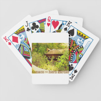 Monaco - herb garden bicycle playing cards