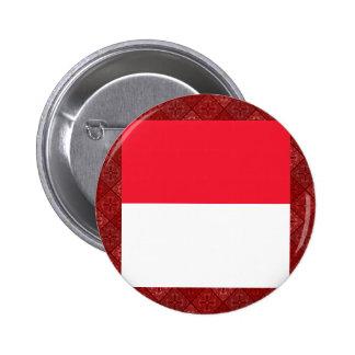 Monaco High quality Flag Pinback Button