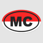 Monaco MC European Oval Sticker