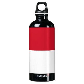 Monaco Monegasque  Flag Aluminum Water Bottle