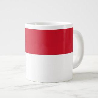 Monaco Monegasque  Flag Giant Coffee Mug