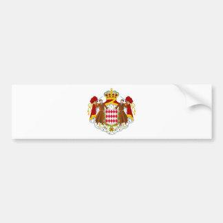 Monaco/Monegasque/Monacan Flag Bumper Sticker